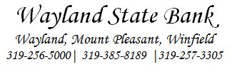 Wayland State Bank logo 2017